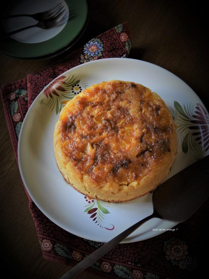 Gâteau renversé de polenta àl'orange