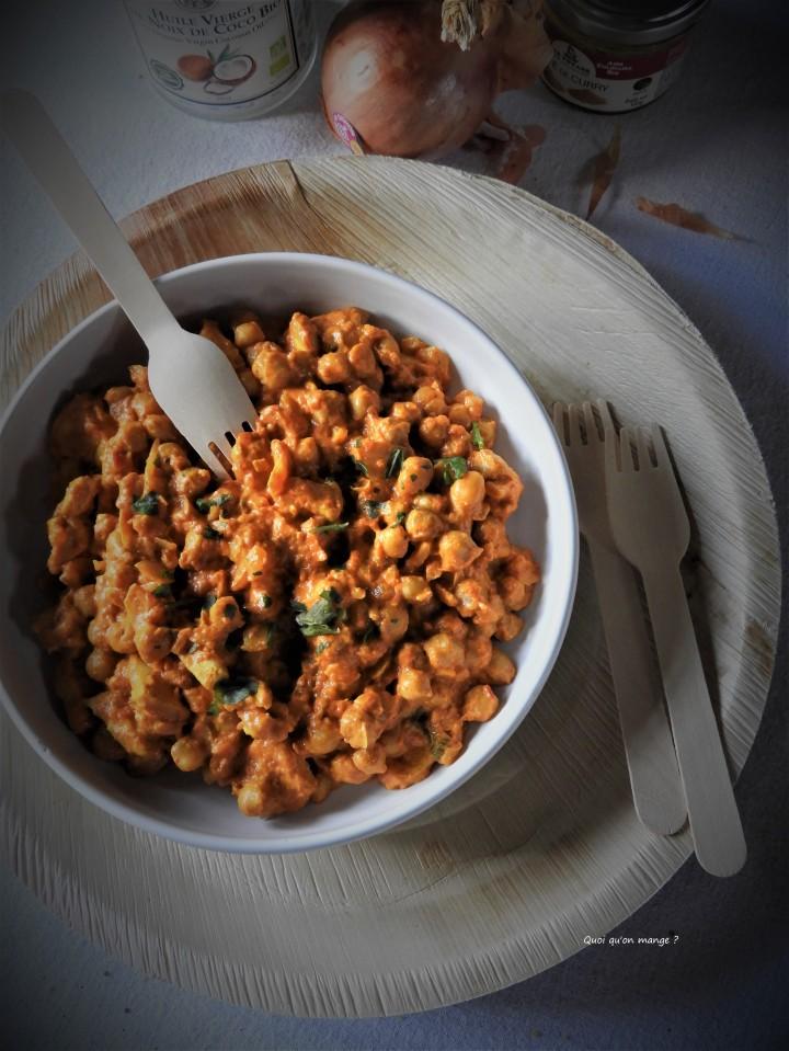 Curry de pois chiche et poulet au lait decoco
