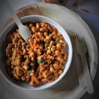 Curry de pois chiche et poulet au lait de coco