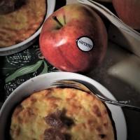 Flan aux pommes sur lit de confiture de marrons
