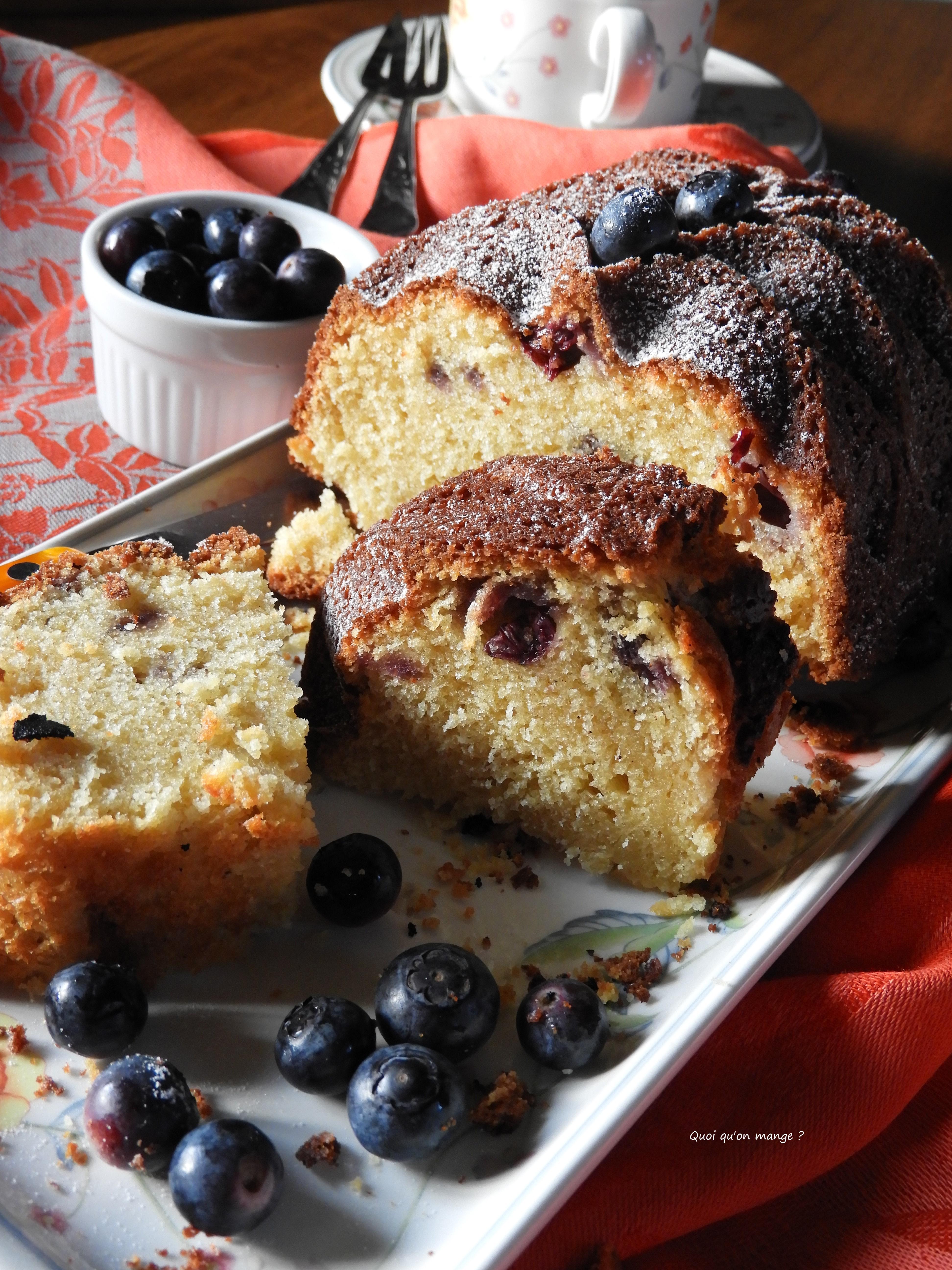 Gâteau yaourt aux myrtilles