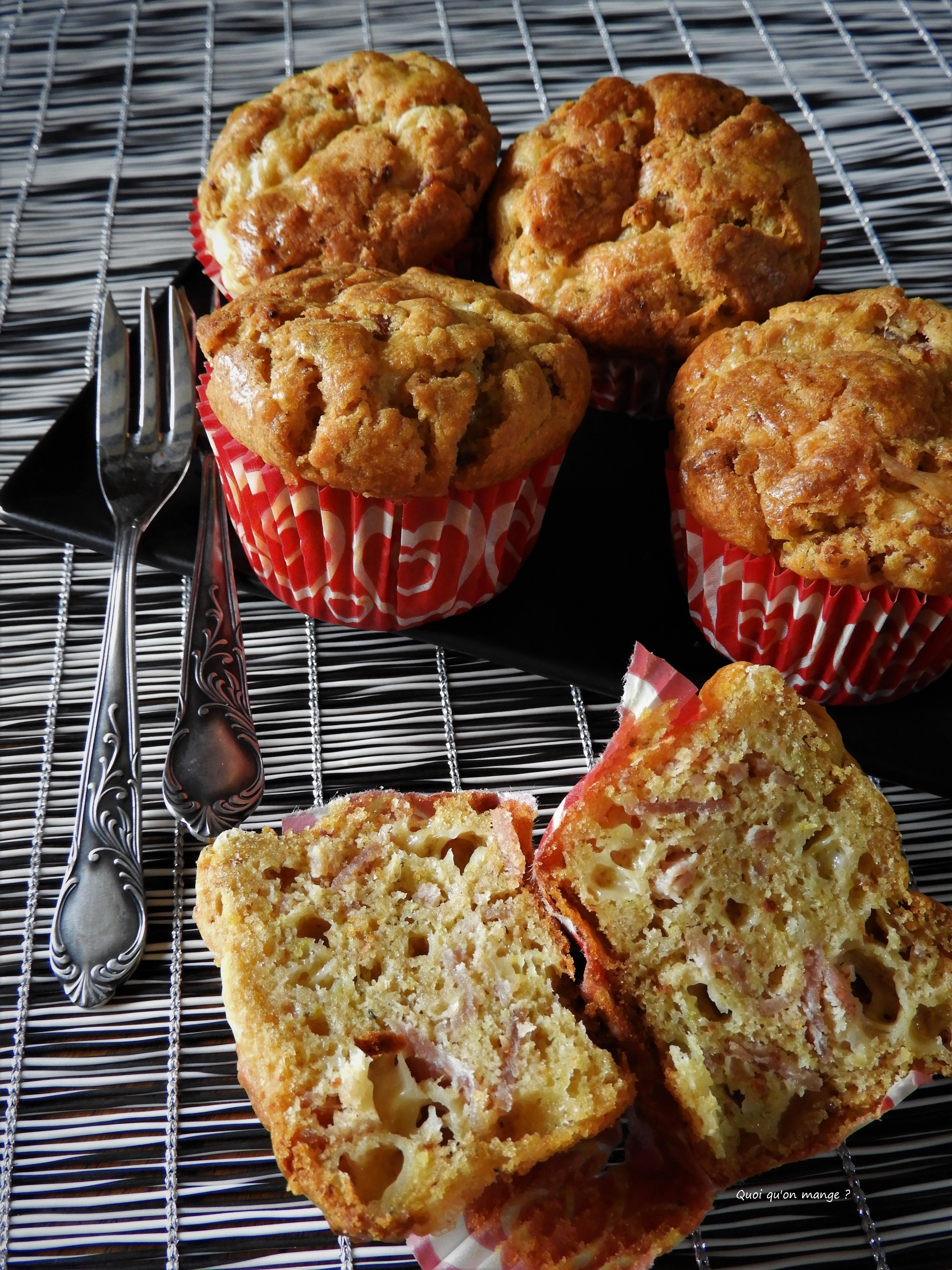 Muffins salés parmesan, bacon et tomates séchées
