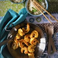 Crevettes sautées façon birmane