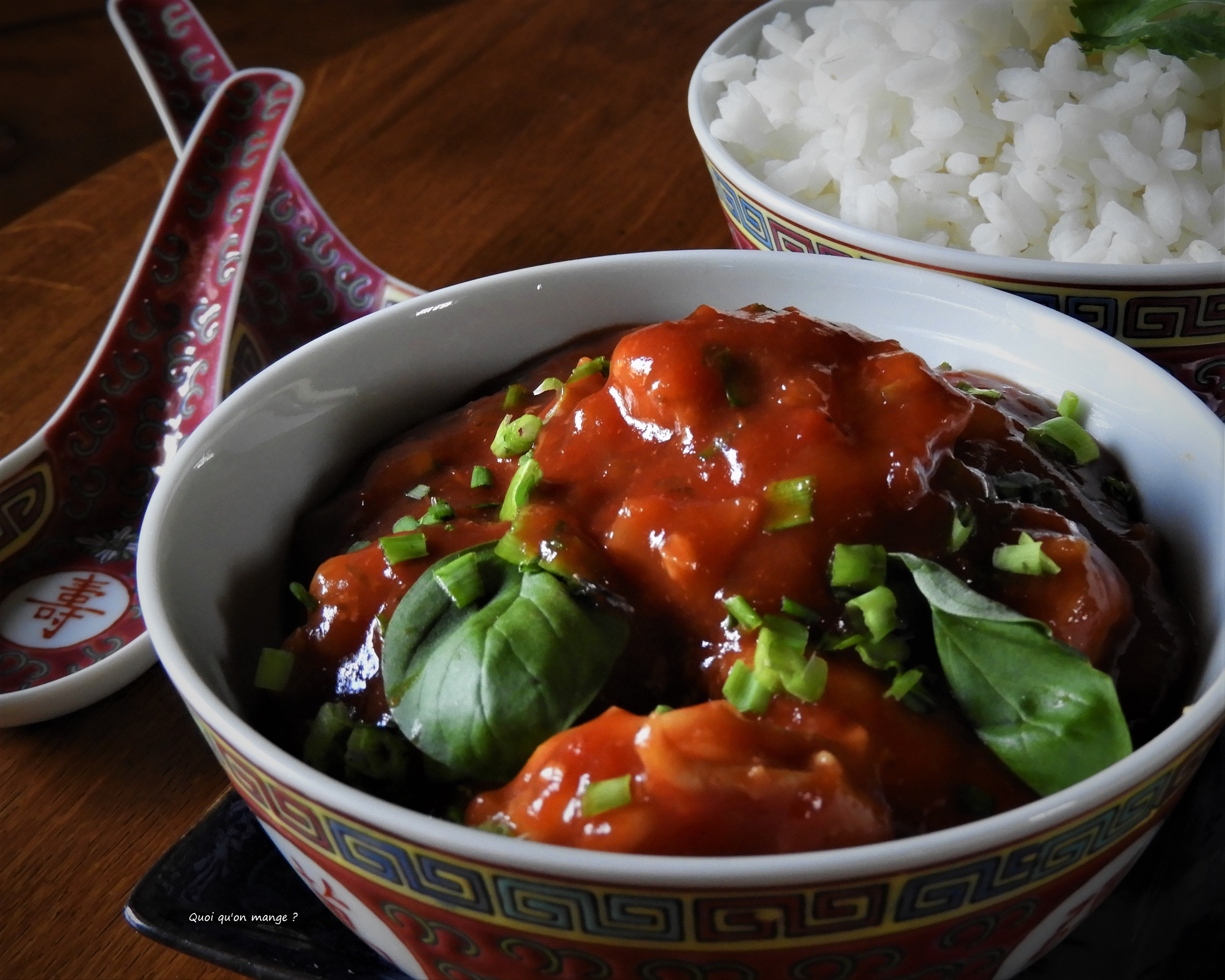 Crevettes sauce tomates un peu piquante