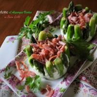 Little Charlotte d'asperges vertes au bacon grillé