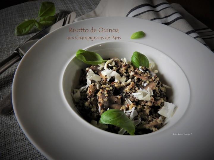 Risotto de quinoa aux champignons deParis