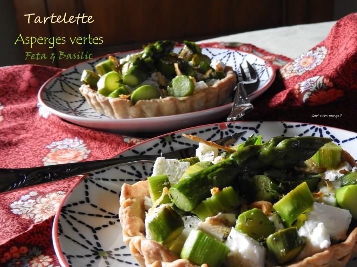Tartelettes d'asperges vertes, feta etbasilic