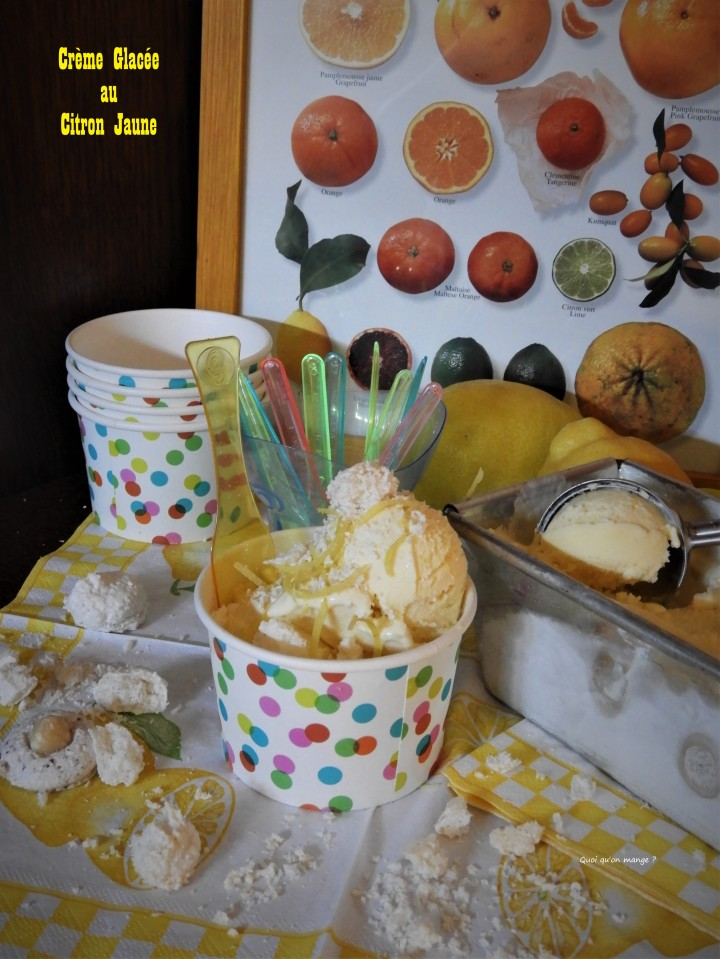 Crème glacée au citronjaune