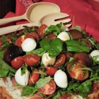 Tarte à la roquette façon salade à l'italienne