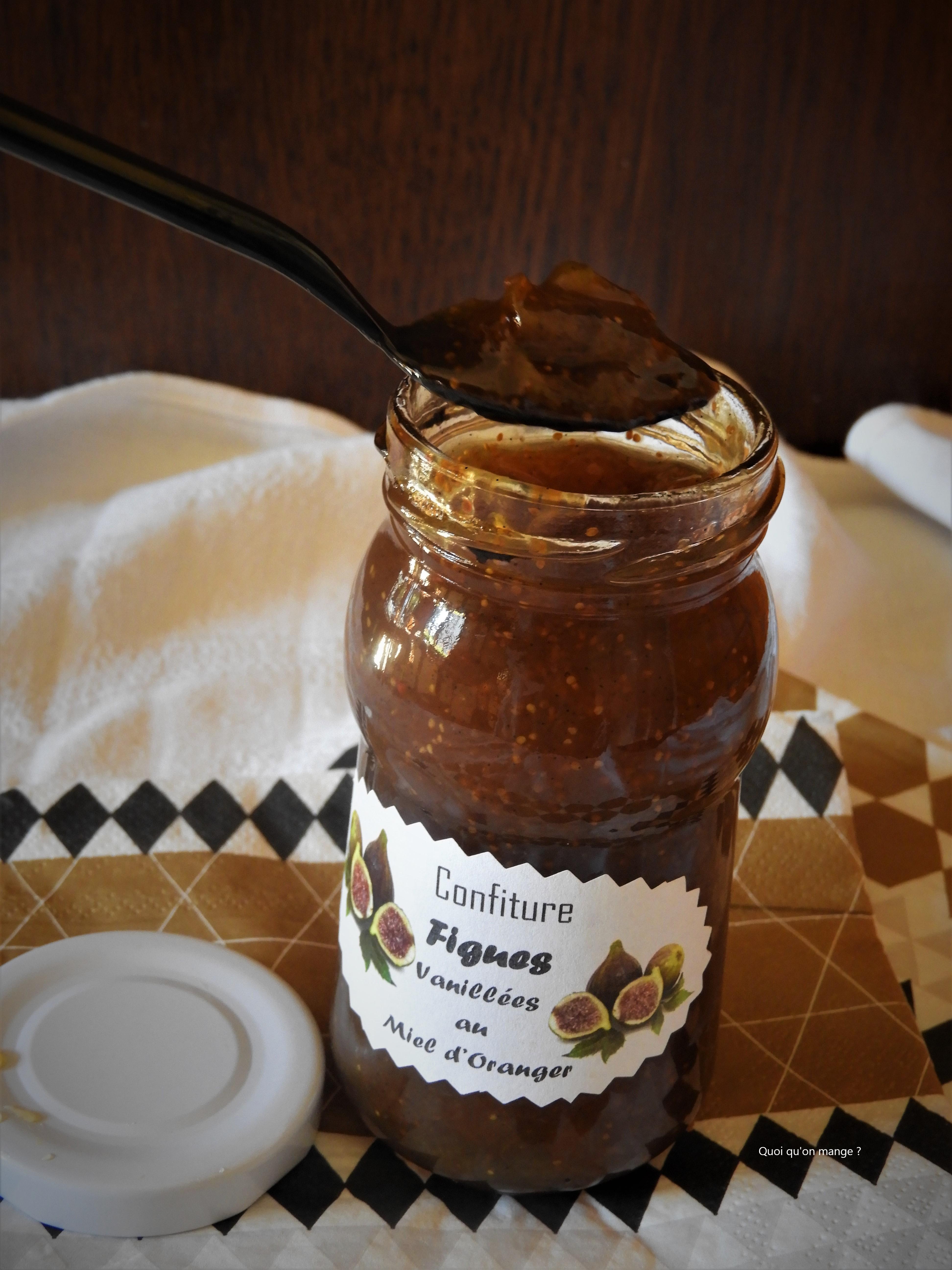 Confiture de figues vanillées au miel d'oranger