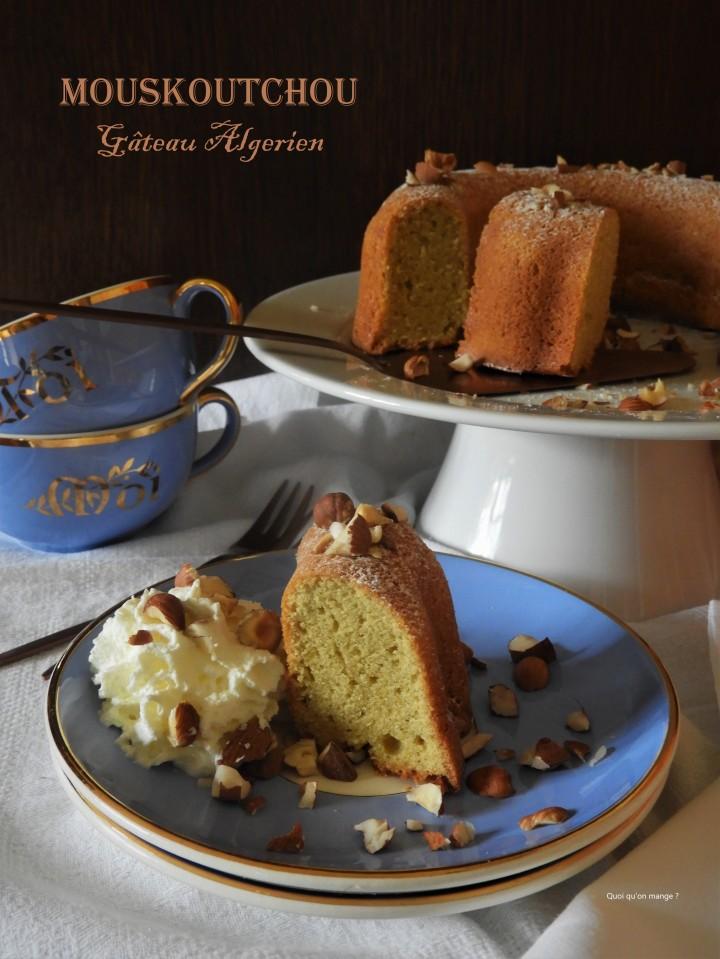 Le Mouskoutchou, ce gâteau traditionnelalgérien