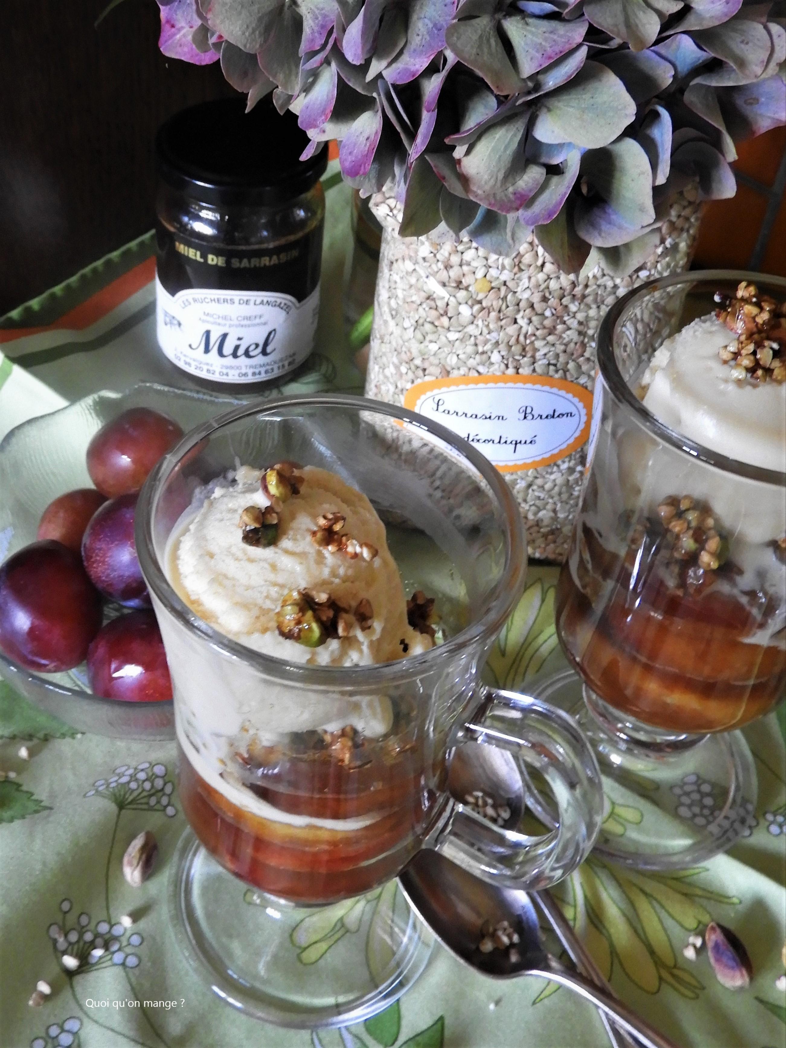Prunes d'Ente rôties au miel de sarrasin