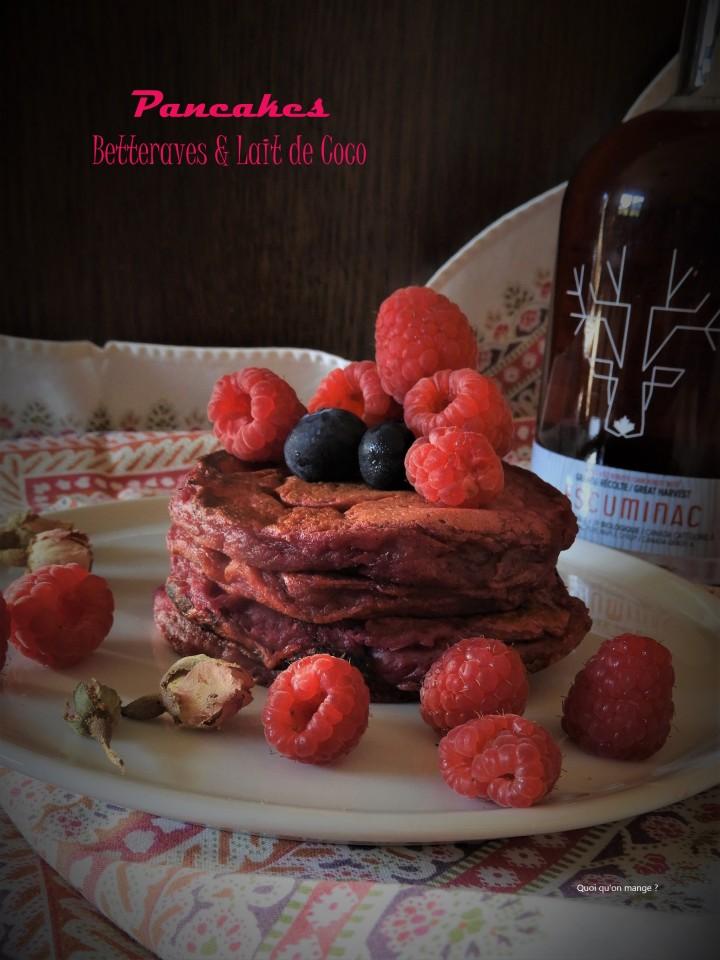 Pancakes roses à la betterave au lait decoco