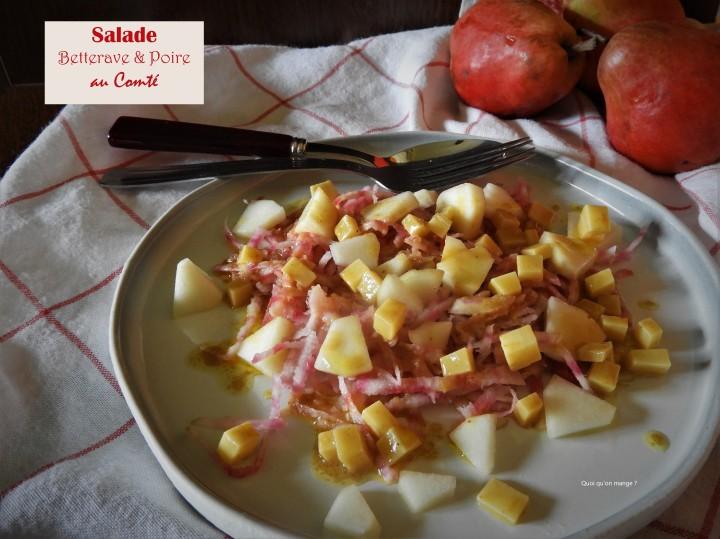 Salade de betterave et de poire auComté